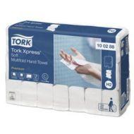 Tork 100288 H2 weiche 34x21 Papierhandtücher Xpress Multifold Premium 2-lagig weiß 2310 St