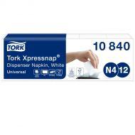 Tork 10840 N4 Xpressnap Spenderserviette weiß 1/4 Falz 1-lagig 9000 Stück