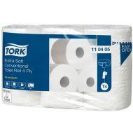 Tork 110405 T4 Toilettenpapier 4-lagig 153 Blatt Premium 42 Rollen weiß