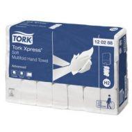 Tork 120288 H2 Xpress weiche Multifold Papierhandtücher groß 2-lagig weiß 2856 Stück
