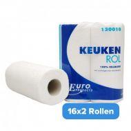 Küchenrolle Zellstoff 2-lagig 32 Rollen je 50 Blatt (130010)