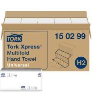 Tork 150299 H2 21x23 Papierhandtücher Xpress Multifold Universal 2-lagig weiß 4740 St