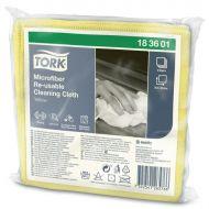 Tork 183601 Mikrofasertücher wiederverwendbar 30x30 gelb