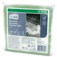 Tork 183602 Mikrofasertücher wiederverwendbar 30x30 grün