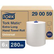 Tork 290059 H1 Matic extralange Handtuchrollen 1-lagig 280m x 21cm Universal 6 Rollen Weiß