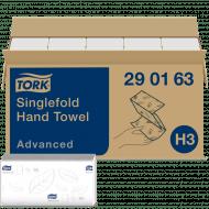 Tork 290163 H3 Zickzack Papierhandtücher 25x23 Advanced 2-lagig weiß 3750 Stk