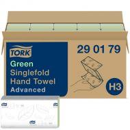 Tork 290179 H3 grüne Zickzack Papierhandtücher 25x23 2-lagig Advanced 3750 Stk