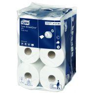 Tork 472193 SmartOne T9 Mini Toilettenpapier 2-lagig 620 Blatt 12 Rollen