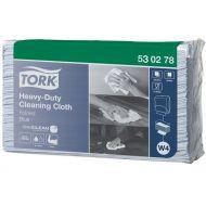 Tork 530278 W4 Extra Starke Reinigungstücher 530 Premium gefaltet 1-lagig, 100 Blatt, 36x43, 500 Stück blau