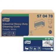 Tork 570478 W4 Extra Starke Industrie Reinigungstücher 1-lagig, 5 x 65 Tücher, 36x43 Weiß