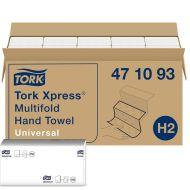 Tork 471093 H2 21x23 Papierhandtücher Xpress Multifold Universal 1-lagig weiß 5000 Stück