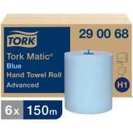 Tork 290068 H1 Matic blaue Handtuchrollen 2-lagig 150m x 21cm Advanced 6 Rollen