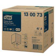 Tork 130073 W1/W2/W3 Extra-Starke Putztuchrolle im Spenderkarton 430 170m 2-lagig 500 Blatt blau