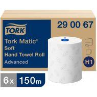 Tork 290067 H1 Matic weiches Rollenhandtuch 2-lagig weiß 150m x 21cm Advanced 6 Rollen